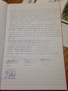 Acta de Constitución de la Personalidad Juridica